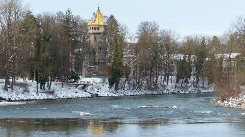 bavarija,Landsbergas,lech,vanduo,weir,pirmenybinė jėga,upė,jėga,kraštovaizdis