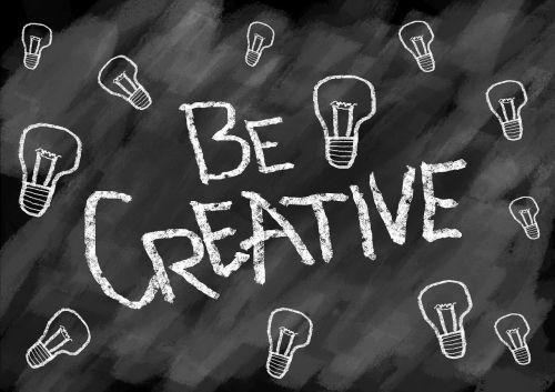 Būk kūrybingas,kūrybingas,kūrybiškumas,piešimas,simbolis,vaizduotė,tirpalas,įkvėpimas,idėja,sėkmė,mąstymas