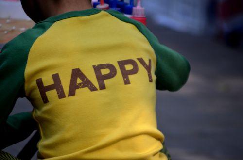 žmonės, berniukas, laimingas, laimingas & nbsp, berniukas, marškinėliai, valstybės & nbsp, protas, Būk laimingas