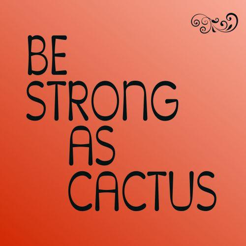 tekstas, pranešimas, būti, stiprus, kaktusas, izoliuotas, raudona, gradientas, fonas, patarimai, būti stiprias kaip kaktusas