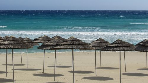papludimys,skėčiai,smėlis,Kipras,ayia napa,Nissi paplūdimys