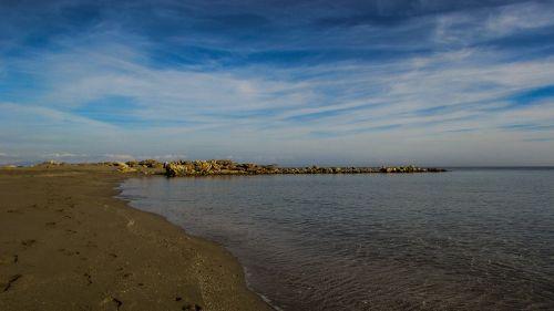 papludimys,tuščia,smėlis,dangus,debesys,ruduo,ramus,ramybė,ramus,kapparis,Kipras,ramus,taikus,gamta