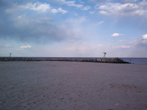 papludimys,vanduo,akmenys,dangus,Naujasis Džersis,Krantas