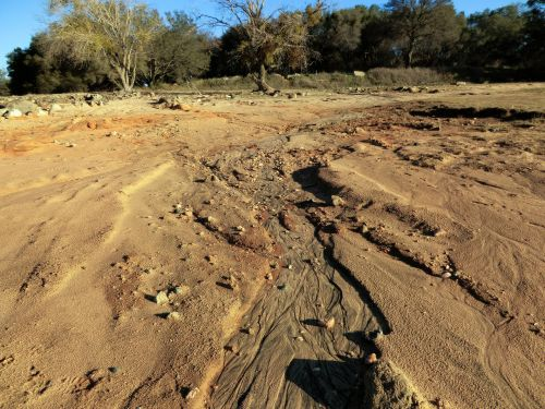 smėlis, papludimys, erozija, rivulet, kraštovaizdis, paplūdimio erozija 119