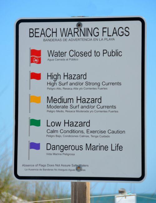 papludimys, įspėjimas & nbsp, ženklas, ženklas, naršyti, vandenynas, saugumas, pavojingos & nbsp, sąlygos, vanduo, potvyniai, druska & nbsp, vanduo, paplūdimio įspėjimo ženklas