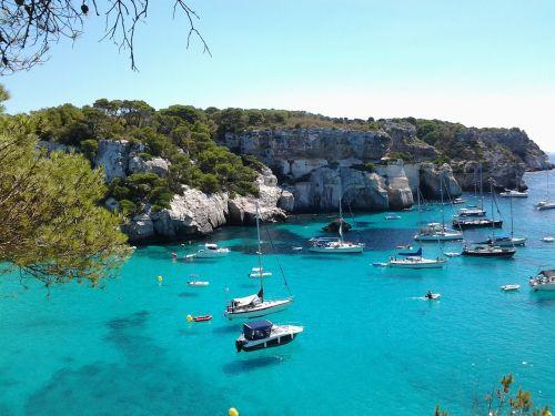 paplūdimiai,Balearų salos,minorca