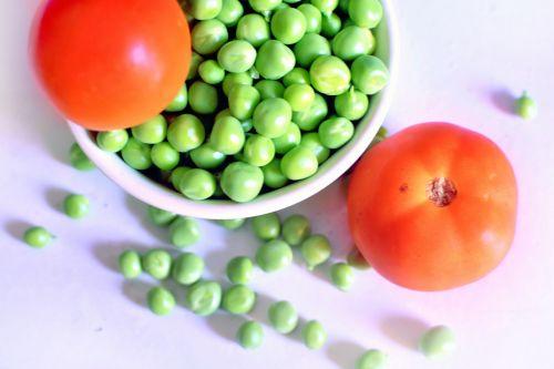 pupos, sėklos, daržovių, baltymas, pluoštas, žalias, pupos sėklos ir pomidorai 1