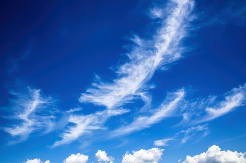 gražūs debesys,debesys,cirrus,gražus,mėlynas,balta,vasara,nuotaika,atmosfera,dangus