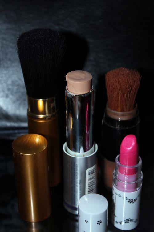 grožis & nbsp, makiažas, makiažas, lūpų dažai, skaistytis, fondas, grožio makiažas