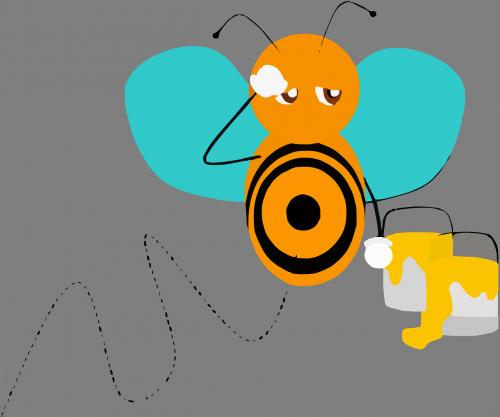 bičių,vabzdys,medaus BITĖ,sparnai,dažyti,žiedadulkės,kaušai,darbas,pavargęs,išnaudota,nemokama vektorinė grafika