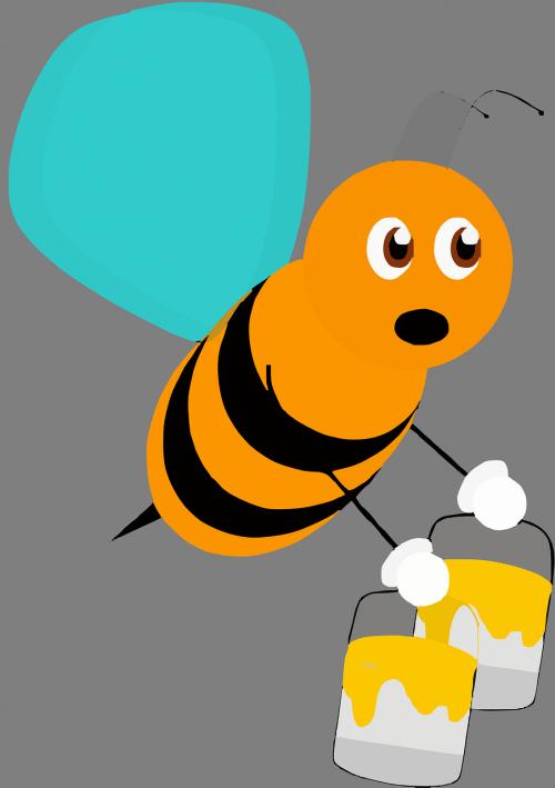 bičių,vabzdys,medaus BITĖ,sparnai,dažyti,žiedadulkės,kaušai,darbas,pavargęs,išnaudota,siurprizas,įdomu,nemokama vektorinė grafika