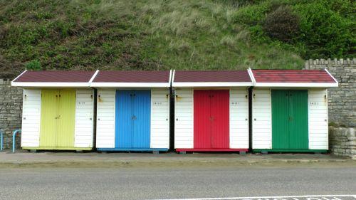 papludimys, nameliai, vasara, pajūryje, vandenynas, jūra, paplūdimio nameliai, atsipalaidavimas, atsipalaiduoti, atsipalaiduoti, buko nameliai iš eilės