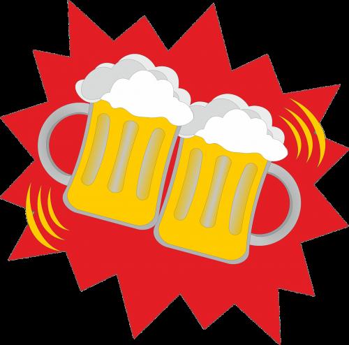 alus,alaus stiklinės,abut,prost,sveikinimai,švesti,festivalis,liaudies šventė,oktoberfest,šviesus,galva,alaus puodeliai,troškulys,gerti,alaus sodas,alaus gėrimas,alaus darykla,tėvo diena,nemokama vektorinė grafika