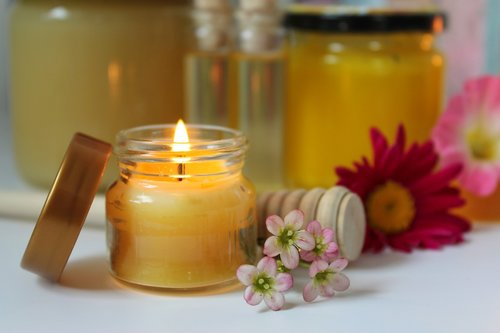 bičių vaškas žvakės, bičių vaškas, medus produktai, Natiurmortas, bičių, visada, nuotaika, bitininkas, bitininkystė, medaus stiklainis, saldus, medaus tepalas, bičių produktai, žvakė