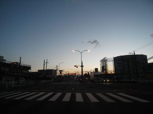 prieš saulėtekį, nacionalinis & nbsp, greitkelis, gifu, Japonija, prieš saulei patekant