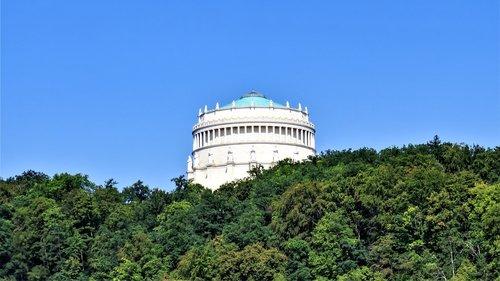 befreiungshalle, Kelheim, Bavarija, Vokietija, architektūra, statyba, istoriškai, karaliaus Liudviko L pastatyti, Memorial, verta aplankyti, turistų atrakcijos