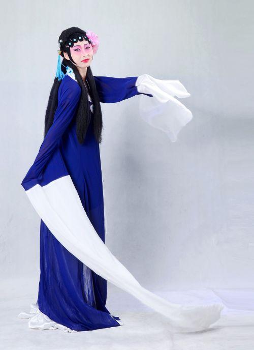 Pekino opera,Kinija,kvintesencija,apranga,tradicinis,asian,moteris,asian,suknelė,ilga rankovė,Mike up
