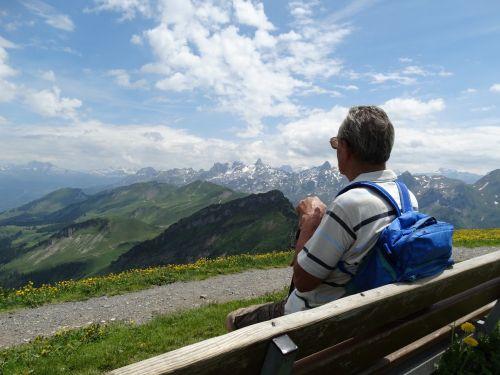 stendas,numatymas,kalnų pasaulis,tolimas vaizdas,poilsis,asmuo,atsipalaiduoti,keliautojas,žygiai,Šveicarija,swiss