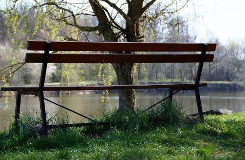 stendas, vienišas, taika, poilsis, poilsis, sėdėti, sėdimosios vietos, gamta, vanduo