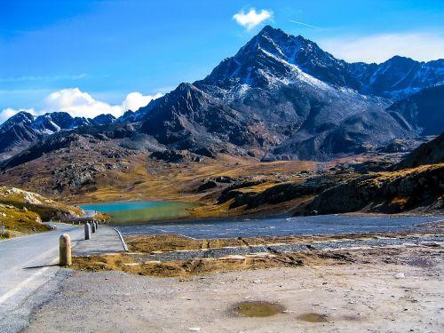 Bergsee,kalnai,kraštovaizdis