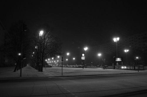 Berlynas,naktis,miestas,Berlynas naktį,žiema