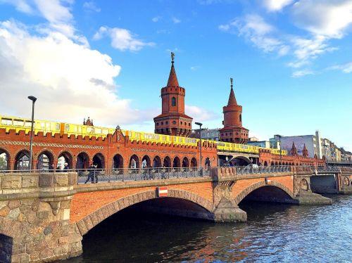 Berlynas,oberbaumbrücke,tiltas,šurprizas