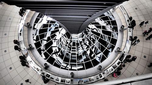 Berlynas,Reichstagas,kupolas,pastatas,stiklo kupolas,architektūra,federalinė valdžia