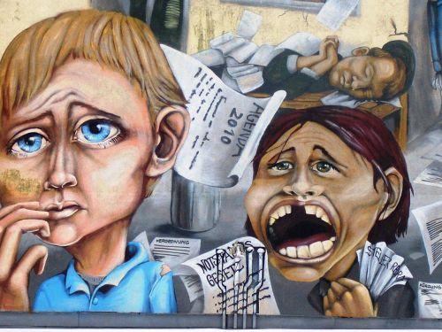 Berlynas, Miestas, Siena, Grafiti, Rytinė Vokietija, Vakarų Vokietija, Ddr