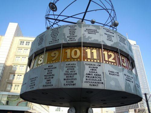 Berlynas,pasaulio laikrodis,alexanderplatz,Rytų Berlynas