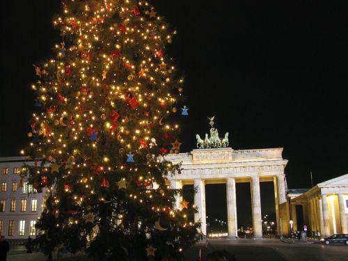 Berlynas,brandenburgo vartai,Berlynas naktį,Adventas,Kalėdos