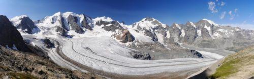 bernina-panorama,rhātkon,graubünden,Šveicarija,diavolezza,piz palu,bella vista,pz bernina,piz morteratsch,Pers ledynas,morteratsch ledynas,kalnų,engadin,turizmas,sluoksnis,Rokas,bernina,pietryčių šveicarija,svizzera,bernina grupė,aukštas alpės,ledo srautas,ledynas srautas,vaizdas,Alpių,kalnai,sniegas,firn,ledynas,požiūris,ledas