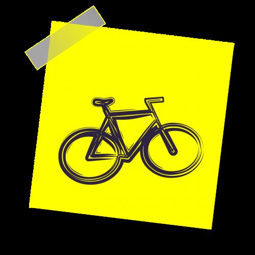 dviratis,ciklą,dviratis,dviratininkas,dviračiu,dviračiu,Sportas,veikla,lauke,piktograma,geltona lipdukė,pastaba,rašyti pastabą