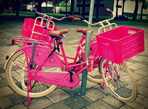 dviratis,dviratis,transporto priemonė,transportas,krovininis dviratis,dviračiu,pratimas,važiuoti,pastatytas dviratis,rožinis,rožinis dviratis