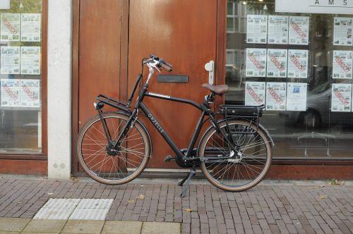 dviratis,Nyderlandai,gatvė