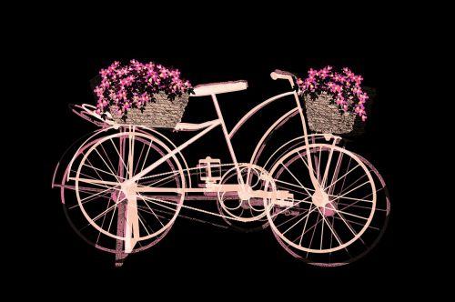 dviratis juodas fonas,dviračių spalvos,du ratai,ratai,Pop Art stiliaus