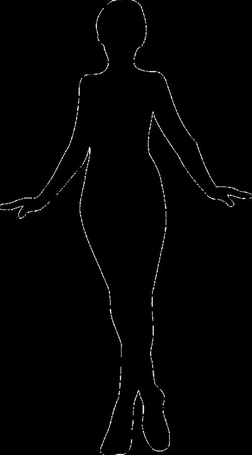 juoda,Moteris,siluetas,moteris,elegantiškas,lieknas,lieknas,nemokama vektorinė grafika