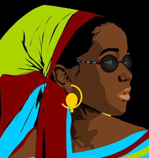 juoda, Moteris, moterų grožis, portretas, grožis, piešimas, grafika, be honoraro mokesčio