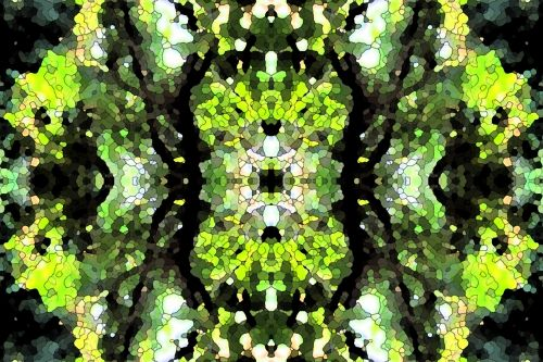 modelis, sudėtingas, juoda, balta, žalias, juodas ir žalias kartotinis raštas
