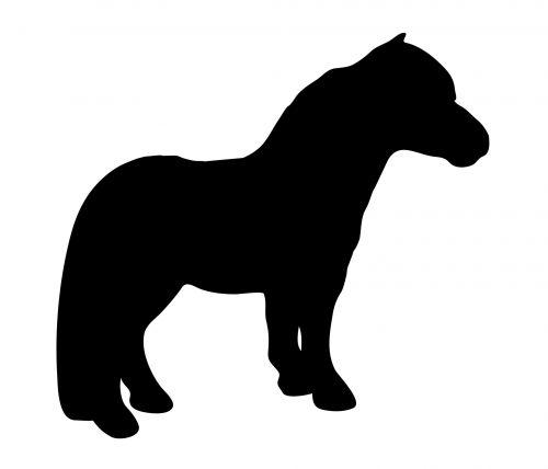 ponis, arklys, arkliai, Shetland, Shetland & nbsp, ponis, gyvūnas, mielas, juoda, siluetas, menas, iliustracija, Iliustracijos, Scrapbooking, juodas ponis siluetas