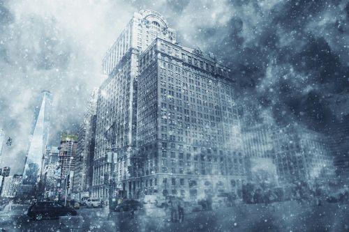 Blizzard, Sniegas, Žiema, Sniegas, Šaltas, Oras, Snaigė, Sniegas, Gatvė, Audra, Ledas, Šaltis, Gamta