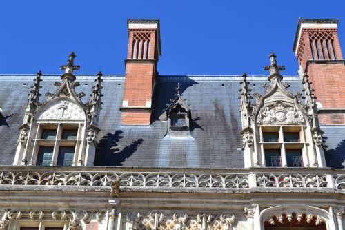Blois, pilis, stogo, langas, židinys, architektūrinis modelis, šiferio stogas, pilis Loire, architektūra, Liūro slėnis