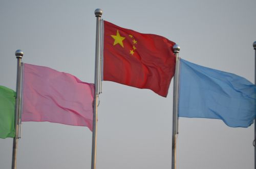 vėliava, vėliavos, vėjas, vėjuota, pučia, flagpole, polių, darbuotojai, rodyti, keltuvas, pučia vėliavos