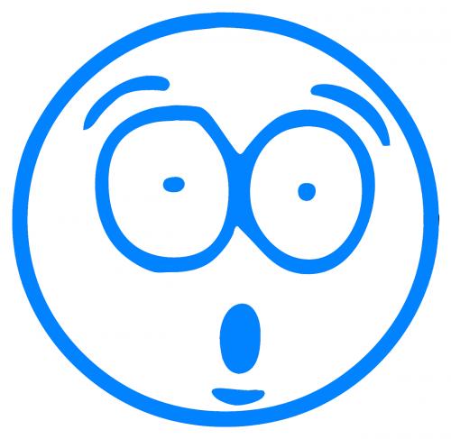 mėlynas,animacinis filmas,animacinis filmas smiley,smiley,nustebintas animacinis filmas,nemokama vektorinė grafika