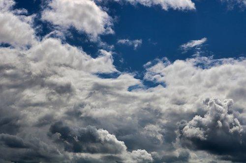 mėlyna, dangus, debesys, vasara, saulė, Sunny, dieną, saulėta diena