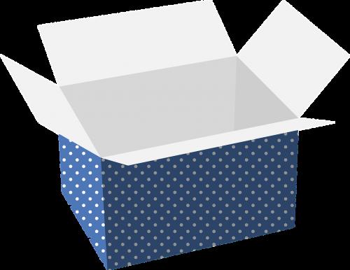 mėlyna polka dot,dėžė,kartonas,nešiotis,saugojimas,nemokama vektorinė grafika