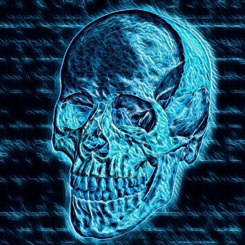 3d, piešimas, mėlynas, kaukolė, žmogus, miręs, kaulai, los & nbsp, muertos, menas, abstraktus, mėlyna kaukolė