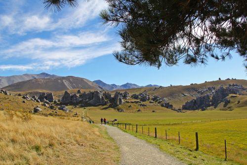 mėlynas dangus,kalnas,Alpės,kalnas,gamta,gražus,debesys,pilies kalnas,Naujoji Zelandija