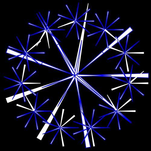 piešimas, doodle, snaigė, juoda, fonas, menas, simetriškas, Kaleidoskopas, spalva, žiema, sniegas, mėlyna snaigė