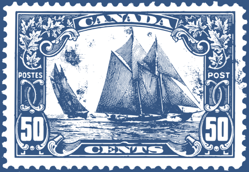 bluenozė,valtis,Kanada,Kanados geriausias antspaudas,klasikinis antspaudas,pranešimas,pašto išlaidos,škuna,antspaudas,timbras,nemokama vektorinė grafika
