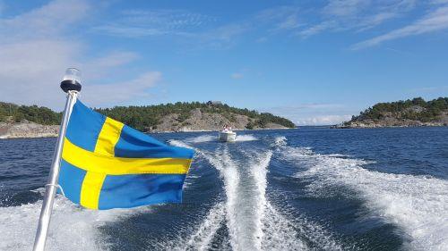valtis,archipelagas,jūra,pramoginė valtis,Švedija,Stokholmo salynas,motorinė valtis,vanduo